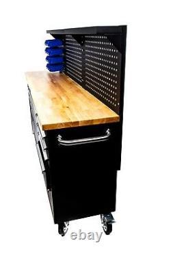 84 Professionnel 10 Tiroir Outil Coffre Coffre Cabinet Avec Dos - 4 Serrures De Roue