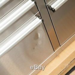 96 En Acier Inoxydable 24 Tiroirs Travail Banc Coffre À Outils Cabinet 4947-4953