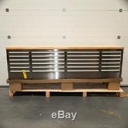 96 En Acier Inoxydable 24 Tiroirs Travail Banc Coffre À Outils Cabinet 5200-5205