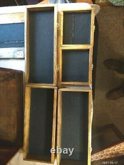 Anciens Ingénieurs Cqr 5 Tiroirs À Chêne / Boîte À Outils Cabinet