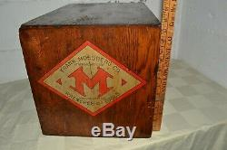 Antique Frank Mossberg Co. Chêne Dépôt De Dossier Hardware Cabinet 8 Tiroir-clef Outil