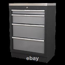 Apms51 Sealey Modular 4 Tiroirs Cabinet 680mm Systèmes De Stockage Modulaires Superline
