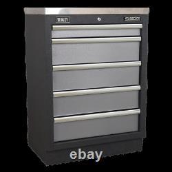 Apms59 Sealey Modular 5 Tiroir Cabinet 680mm Systèmes De Stockage Modulaire Superline