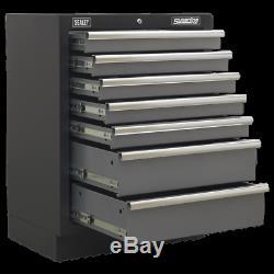Apms62 Sealey Modulaire 7 Tiroirs 680mm Modulaire Systèmes De Stockage Superline