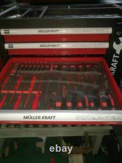 Armoire À Outils À Main De Garage Verrouillée Avec Outils En 4, Six Tiroirs Et Porte Latérale, Ensemble