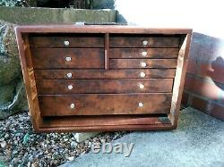 Armoire À Outils En Bois Vintage Engineers 8 Drawer Wooden Tool Box