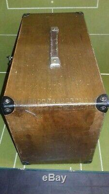 Armoire À Outils En Bois Vintage Moore & Wright À 7 Tiroirs Et Panneau Avant