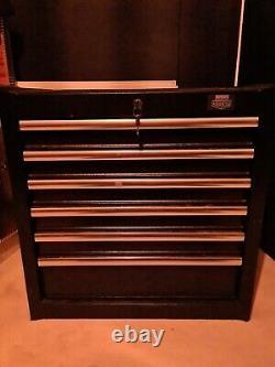 Armoire À Outils Halfords Advanced 6 Drawer. Rrp £290. Coffre Box Lockable Noir