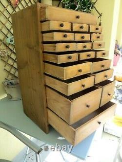 Armoire D'horlogers Antiques, Tiroirs De Collecteurs, Boîte À Outils D'ingénieurs / Coffre