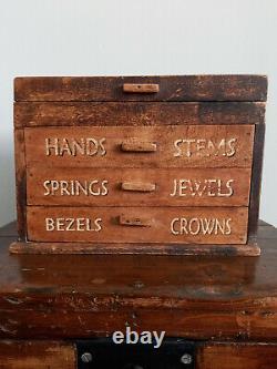 Armoire D'outils Horlogers Vintage / Tiroirs