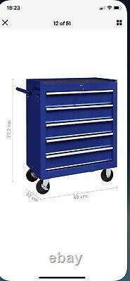 Armoire De Chariot D'outils Avec Tiroirs En Acier 5/7 Atelier De Stockage De Coffres Outilb