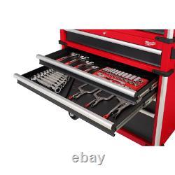 Armoire De Coffre À Outils 36 Po. Roulement À Billes 12-drawer Diapositives Couvercle À Gaz En Acier Rouge