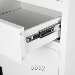 Armoire De Rangement D'outils White/grey Metal 6ft Classeur 2 Bureau De Casier À Tiroirs