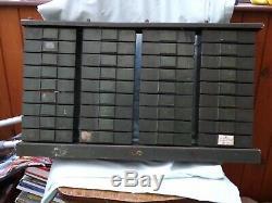 Army Wwll Vintage Industrial Metal Tiroirs Ingénieurs Cabinet Outil Unité Au Sort