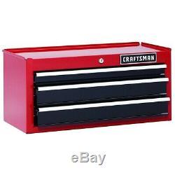 Artisan 26. Robuste À Billes 3 Tiroirs Palier Central Coffre Rouge / Noir