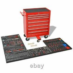 Atelier Chariot Mobile Coffre De Rangement Boîte Cabinet Avec 1125 Outils Tiroirs En Acier 7