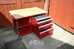 Atelier D'outils Chariot 4 Tiroirs Boîte À Outils Cabinet Taille 1100mm X 700 Red Steel