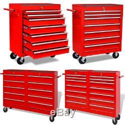 Atelier D'outils Chariot De Garage Boîte De Rangement Cabinet Panier Roue Outils Tiroirs Coffre