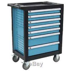 Atelier De Stockage Chariot Boîte À Outils De Service Cabinet Panier Coffre À Outils Avec 7 Tiroirs