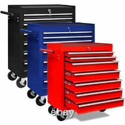 Atelier Outil Chariot Garage Boîte De Rangement Cabinet Chariot Roue Outil Tiroirs
