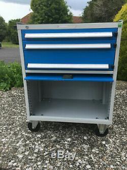 Atelier Outil Mobile Cabinet (bott), 3 Tiroirs, Armoire Et Plateau Supérieur Avec Mat