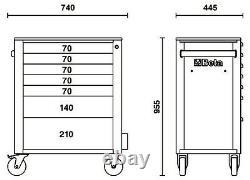 Beta C24s / 7 7 Tiroir Mobile Rouleau Cabinet Rouge