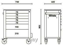 Beta C24s/7-m 7 Tiroir Mobile Tool Roller Armoire Matt Grey