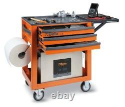 Beta C50s Service Workshop Roller Tool Trolley Armoire Avec 3 Tiroirs Orange