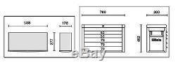 Beta Outils C23sc G 8 Tiroirs Outil Top Box Cabinet Chest Couleur Gris