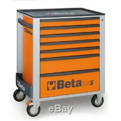 Beta Outils Spéciaux! Italie C24s Rollcab Boîte À Outils Tiroir Orange 7 Cabinet Roller