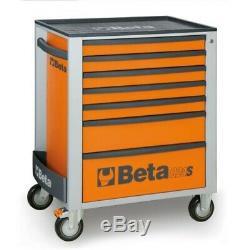 Beta Rouleau Mobile Cabinet Boîte À Outils 7 Cabine Tiroir Rouleau Orange C24s7 / O