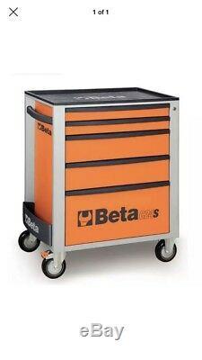 Beta Tools C24s5 / O Boîte À Outils À Roulettes Mobile Cabine À 5 Tiroirs Rollc Orange Rollc