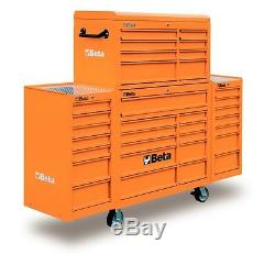 Beta Tools C38c / O Big Boîte À Outils À 33 Tiroirs À Roulettes Rollcab Orange