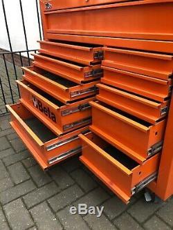 Beta Tools C38o Boîte À Outils À Roulettes Mobile À 11 Tiroirs Roll Cab Orange Rollca