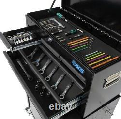Black 8 Tiroir Tool Box Tool Chest Roller Cabinet Atelier Garage Storage