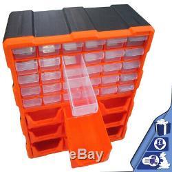 Boîte À Outils 39 Tiroirs Armoire De Rangement Bricolage Outils Organisateur Vis Bit Cas Boulon Multi