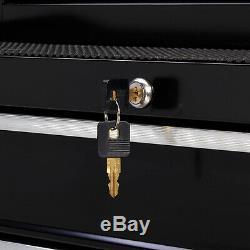 Boîte À Outils À Roulettes Range-tout Rangement Pour Armoire Avec Coffre À 4 Tiroirs En Acier Nouveau
