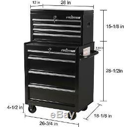 Boîte À Outils Coffre Métal Roulant Meuble 26 Pouces 4 Tiroirs Inférieurs Atelier Rangement