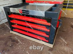 Boîte À Outils Roller Acier Cabinet Red Deluxe Chest 4 Drawers Full Of Tools Widmann