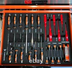 Boîte À Outils Rouleau Armoire En Acier Coffre 4 Tiroirs Pleins D'outils Widmann