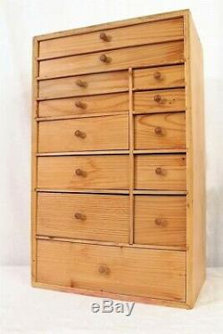 Boîte À Outils Vintage Cabinet De Collectionneurs Commode Horlogerie Mercerie