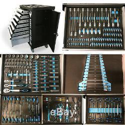 Boîte De Coffre À Outils 474 Us Pro Avec Plateaux À Outils Armoire À Roulettes À 7 Tiroirs 250 Pièces