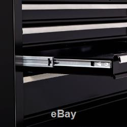 Boîte De Rangement Hyper Robuste Pour Coffre À Outils À 4 Tiroirs, Armoire Supérieure En Métal Noir