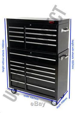 Boîte Supérieure De Cabine De Rouleau De Coffre À Outils De Mécanicien Professionnel Avec Nous, Glissières À Roulement À Billes