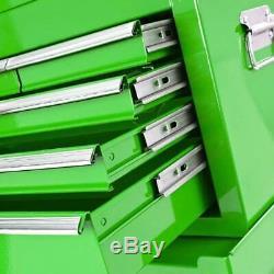 Cabinet De Roulement Biketek Acier Outil Vert 8 Tiroirs Coffre À Box Garage Stockage