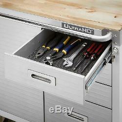 Cabinet De Roulement De Verrouillage Boîte À Outils Coffre En Acier Inoxydable 4 Tiroirs Rangement Pour Le Garage