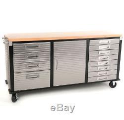 Cabinet Portatif De Bricolage De Tiroirs De Boîte À Outils De Garage D'établi En Acier Résistant