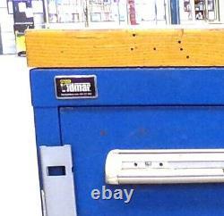 Cabinet Stanley Vidmar Tool, 61638946w, 5 Tiroirs, 30 X 27 3/4 X 33, Top En Bois