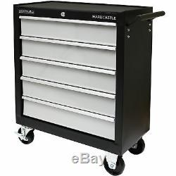 Cabinet Verrouillable De Rouleau / Armoire De Rollcab De Boîte De Rangement De Coffre À Outils De Tiroir En Métal Noir 5
