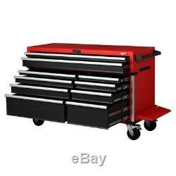 Capacité Élevée De Stockage Mobile De Coffre D'outil De Cabinet De Rouleau De 10 Tiroirs De Milwaukee 56 Dans